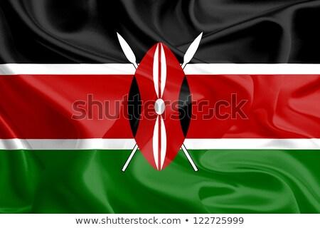Siyasi bayrak Kenya dünya ülke Stok fotoğraf © perysty