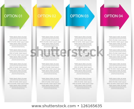 Arrow shaped vertical banners. Stock photo © Sylverarts