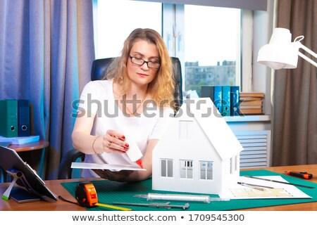 casa · modelo · retrato · sério · arquiteto - foto stock © photography33
