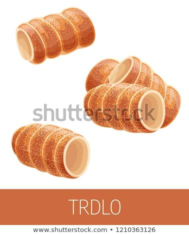 Trdelnik, czech cuisine Stock photo © stevanovicigor