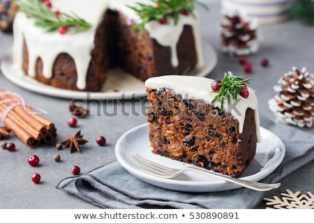 Traditional Christmas cake Stock photo © joannawnuk