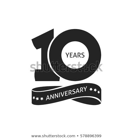 10 · éves · évforduló · feliratok · kártyák · vektor · terv - stock fotó © szabore