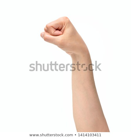 Young man throwing a punch. Isolated on white Stock photo © acidgrey