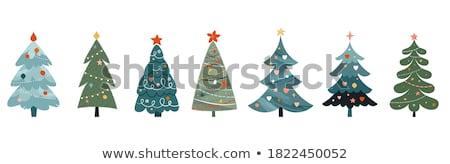 Aranyos karácsonyfa vektor rajz vicces fa Stock fotó © pcanzo
