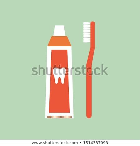 azul · verde · vermelho · escova · de · dentes · isolado · branco - foto stock © ozaiachin