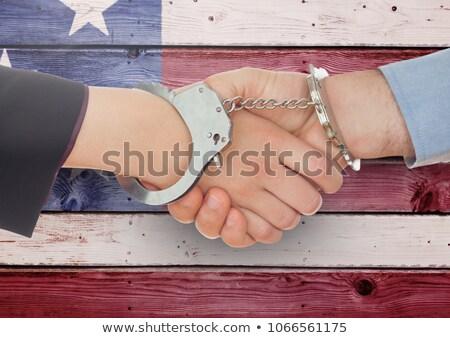 Geschäftsfrau Handschellen weiß Hand sexy Arbeit Stock foto © wavebreak_media