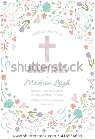 first communion card boy Stock photo © marimorena