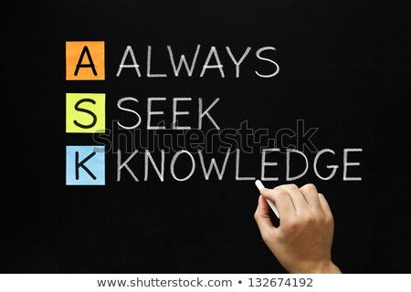 Always Seek Knowledge Acronym Stock photo © ivelin