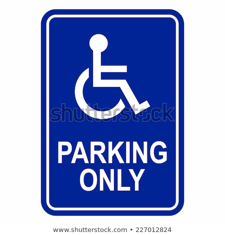 handicap · parking · podpisania · niebieski · amerykański · znak · drogowy - zdjęcia stock © michaklootwijk