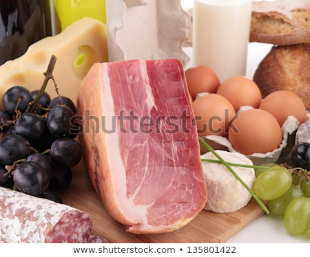 close up on ham and farming ingredients Stock photo © M-studio