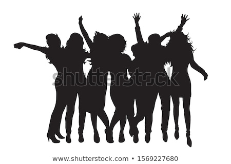 girl party silhouette stock photo © gubh83