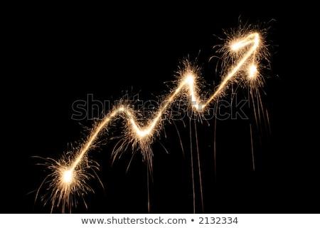 Grafikon nyíl csillagszóró pénzügy energia siker Stock fotó © Paha_L