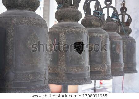 Thai buddhista harang hagyományos réz imádkozik Stock fotó © bbbar