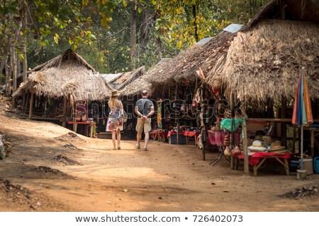 Karen Long Neck hilltribe in Northern Thailand Stock photo © bbbar