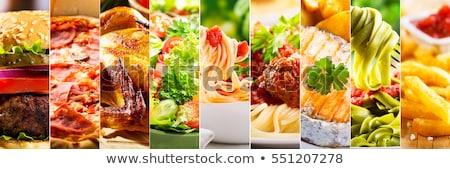 restaurant · eten · collage · verschillend · restaurant · gerechten · witte - stockfoto © luckyraccoon