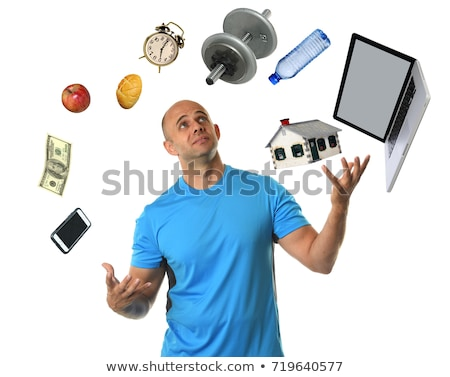 Business man juggling with dumbbell Stock photo © doupix