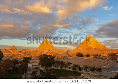 great pyramids in giza valley cairo egypt stock photo © imaster