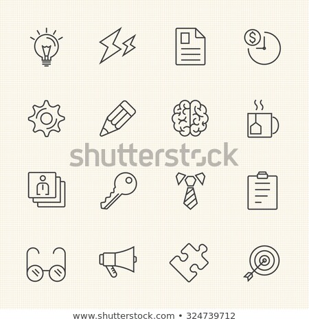 Vetor ícone nota lápis caso caneta Foto stock © zzve