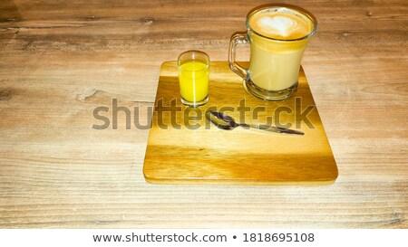latte macchiato in a small glass Stock photo © Rob_Stark