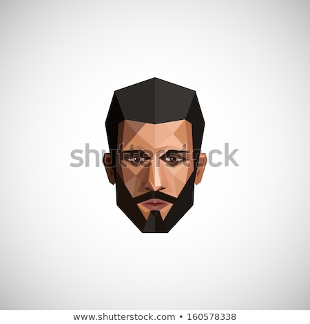 Retro hipster face geometric icons Stock photo © cienpies