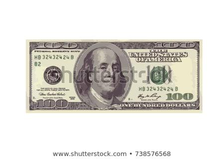 Jeden sto dolarów otwór papieru twarz Zdjęcia stock © vlad_star