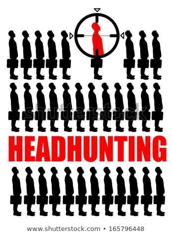 Headhunting. Yellow Sticker on Bulletin. Stock photo © tashatuvango