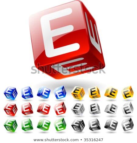 Letter E on Childrens Alphabet Block. Stock photo © tashatuvango