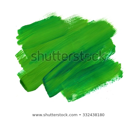 green paint with brush on paper Stock photo © gewoldi