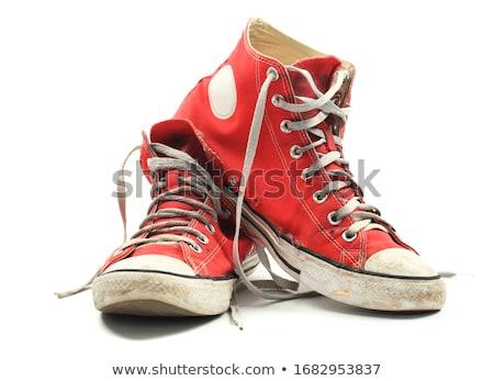 古い · みすぼらしい · スポーツ · ブーツ · 白 · スポーツ - ストックフォト © prill