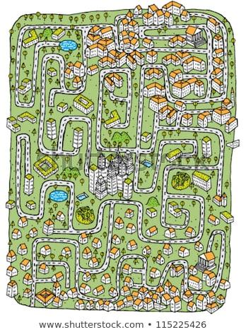 Urban Landscape Maze Game Stock photo © VOOK