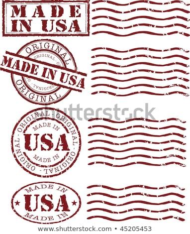 USA · pecsét · fehér · piros · épít · Amerika - stock fotó © tashatuvango