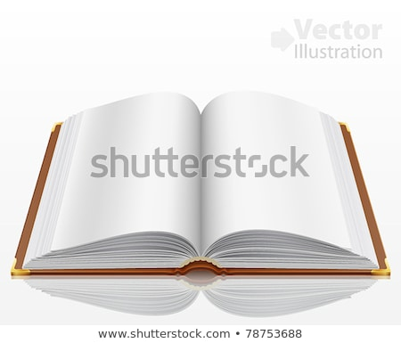 Open book with white pages and brown cover Stock photo © Elmiko