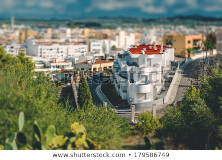 view of modern apartments in center of ibiza city spain stock photo © amok