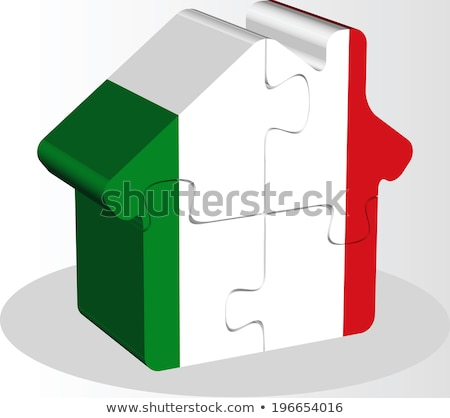 house home icon with Italy flag in puzzle Stock photo © Istanbul2009