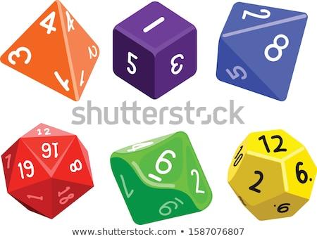 Kocka játékok különböző színek fehér kék Stock fotó © mayboro1964