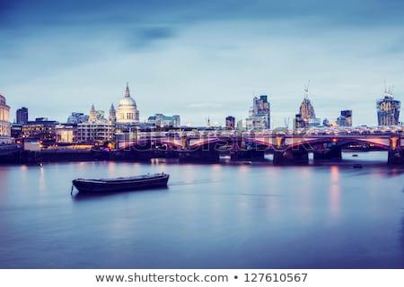 パノラマ · 大聖堂 · ロンドン · 橋 · 川 · テムズ川 - ストックフォト © 5xinc