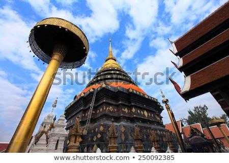 Chapel of Wat Phra That Lampang Luang temple Stock photo © Yongkiet