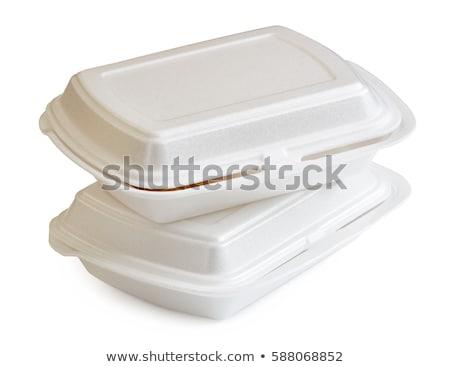 коробки · открытых · белый · текстуры · продовольствие - Сток-фото © dezign56