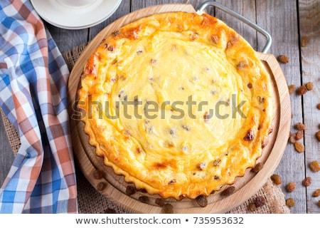 コテージチーズ レーズン 表 便利 朝食 カフェ ストックフォト © manera