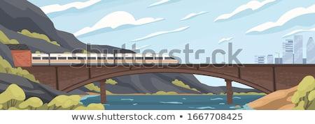 Mountains river bridge Stock photo © joyr