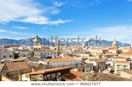 Theater sicilië huis gebouw Blauw architectuur Stockfoto © Dserra1