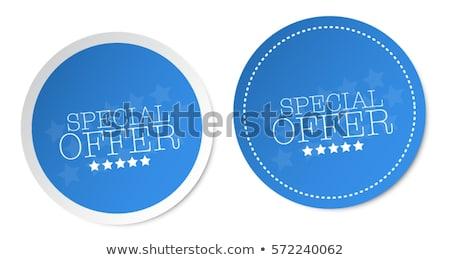 сезонный · предлагать · синий · вектора · икона · дизайна - Сток-фото © rizwanali3d