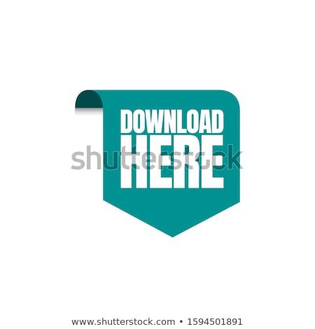 Download Here Green Circular Vector Button Stock photo © rizwanali3d