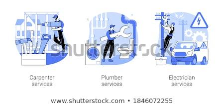 Photo stock: Charpentier · évier · homme · travailleur · industrielle · outil