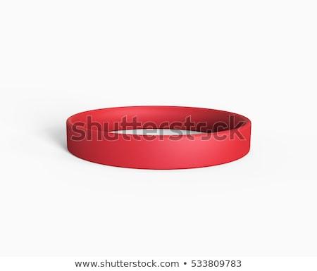 Rood armband geïsoleerd witte vrouw meisje Stockfoto © ozaiachin