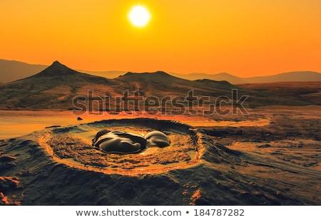 Plin de noroi peisaj parc noroi mediu crăpa Imagine de stoc © igabriela