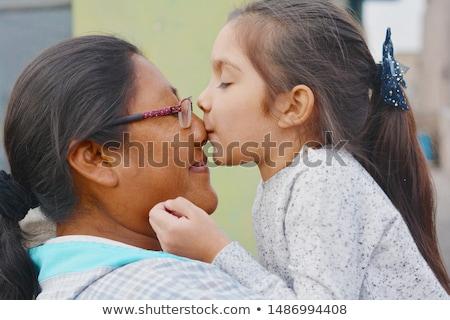 őslakos · amerikai · nő · csinos · kandalló · lány - stock fotó © disorderly