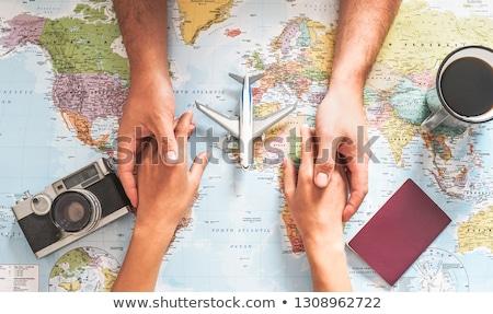 Amor mapa ilustração terra forma coração Foto stock © UltraPop