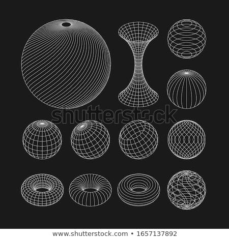 Modelo átomo mundo establecer 3D ilustraciones Foto stock © tashatuvango