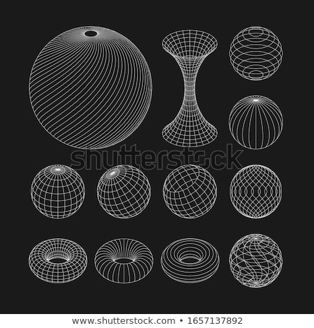 Model Atom with Globe - Set of 3D Illustrations. Stock photo © tashatuvango